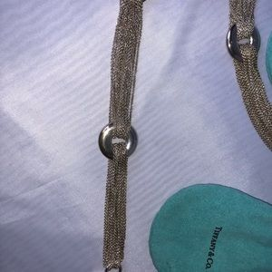 Tiffany SilverMultichain Circle Necklace& Bracelet